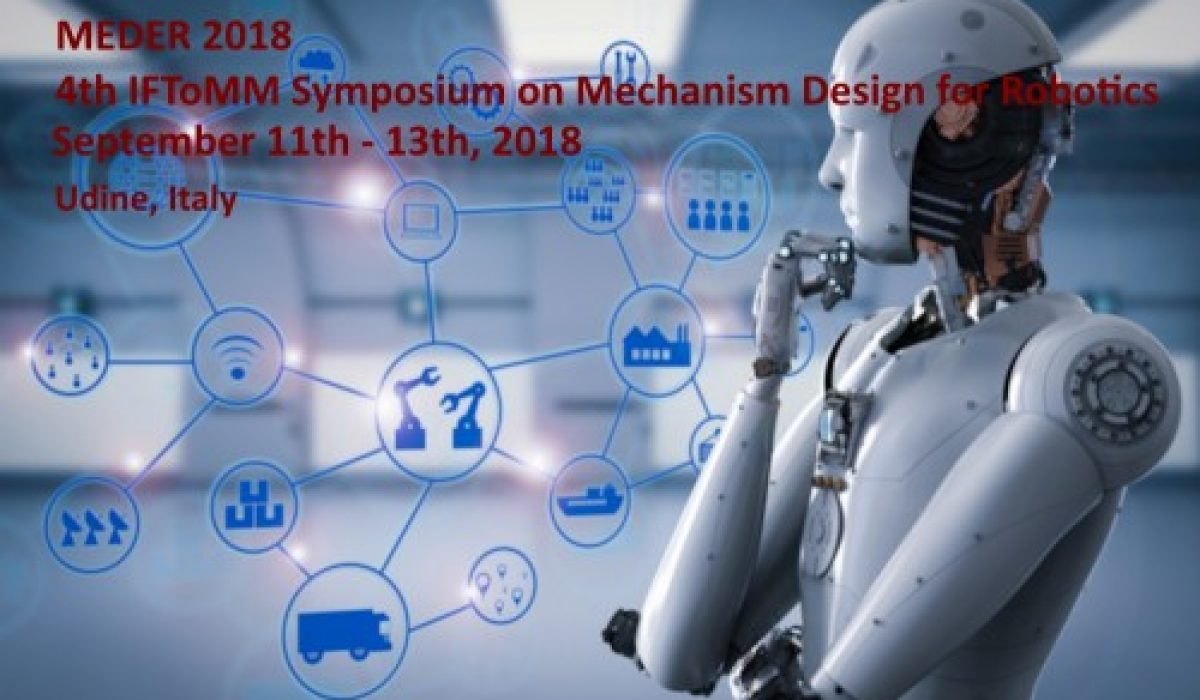 SISTEC, Sponsor Tecnico di MEDER 2018 – Symposium on Mechanism Design for Robotics