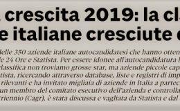 """SISTEC è """"LEADER DELLA CRESCITA 2019"""""""