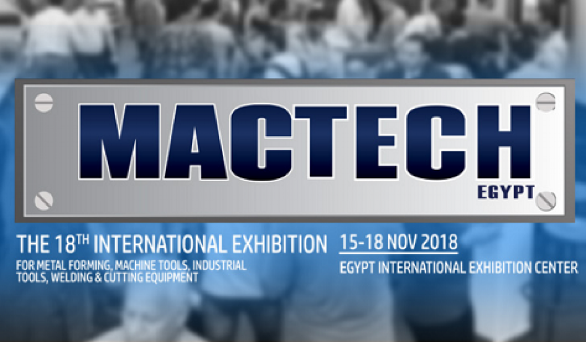 MACTECH 2018 (CAIRO-EGYPT) | WE WILL BE PRESENT AT MACTECH TRADE FAIR FROM 15th TO 18th NOVEMBER | HALL/BOOTH 2 J44